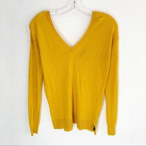Zara Knit V-Neck Long Sleeve Sweater Top Size S